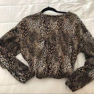 Zara animal print sweatshirt